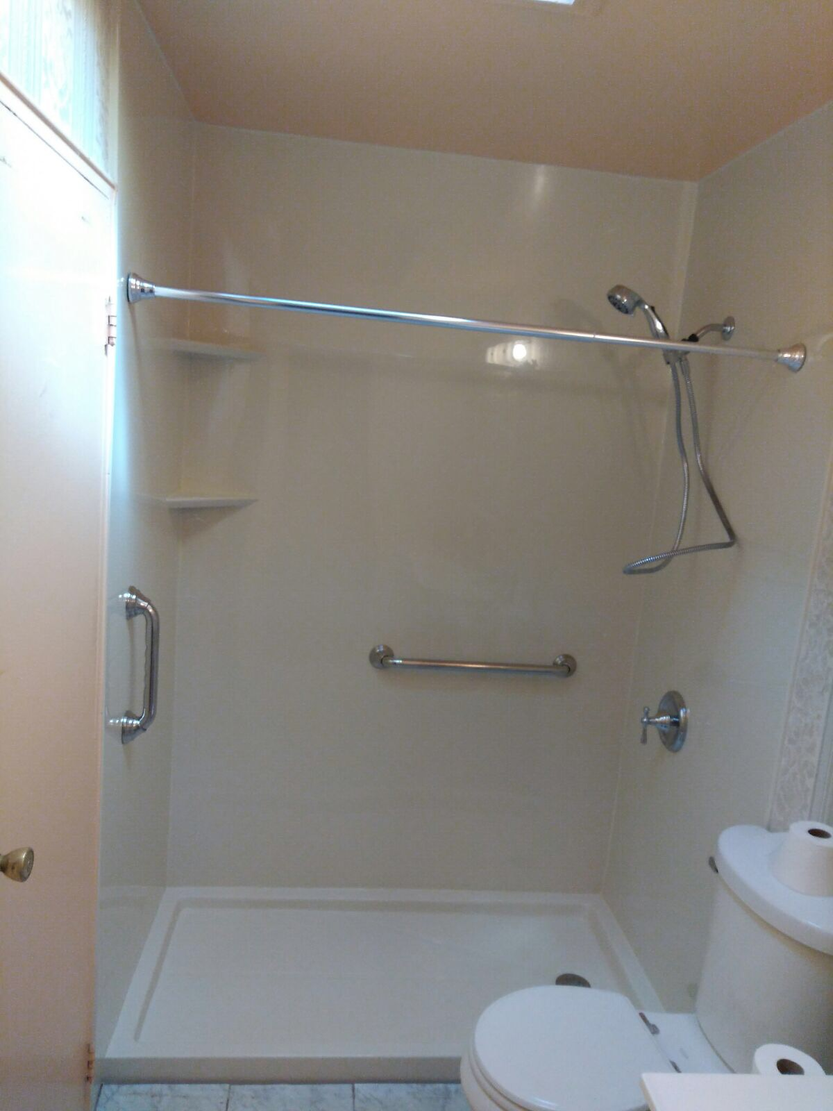 kitchen sa to shower conversion convert homestyle before palmetto after bath tub